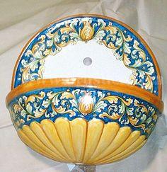 Fontana in ceramica | ilrustico.com - cucine in muratura caltagirone