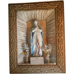 30% OFF- Sale starts 7/19 Victorian Petition to the Blessed Virgin Shadowbox from vintagecatholic on Ruby Lane