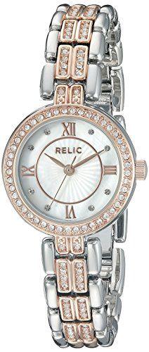 Relic Women's ZR34342 Haven Analog Display Analog Quartz Rose Gold Watch. Case diameter: 25 mm. Case thickness: 7.2 mm. Analog-quartz Movement. Case Diameter: 25mm. Water Resistant To 99 Feet.