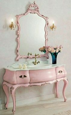 *•. ❁ .•* Buffet converted into bathroom vanity