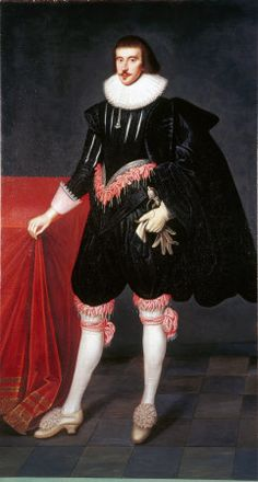 British (English) School - Portrait of an Unknown Gentleman (called 'George Villiers, Duke of Buckingham') (Vyne Estate) Historical Art, Historical Costume, Historical Clothing, 17th Century Clothing, Tudor Era, School Portraits, High Renaissance, British English, British History