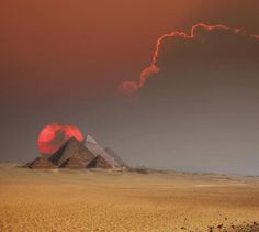 Pyramids on Egypt at Sunset #thinkBLU