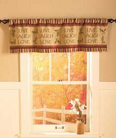 Live Laugh Love Tapestry Window Valance Curtain Kitchen Bathroom Home Decor