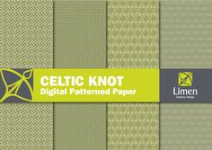 New to limen on Etsy: Buy 2 Get 1 More Free   Celtic Knot Pattern Designs   Paper Goods for Crafts & Scrapbooks   Celtic Knot Digital Paper Pack (3.50 USD)