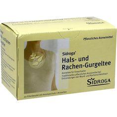 SIDROGA Hals- und Rachen-Gurgeltee Filterbeutel:   Packungsinhalt: 20 St Tee PZN: 08871214 Hersteller: Sidroga Gesellschaft für…