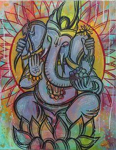 Ganesh Canvas Print / Canvas Art by Megan Wood