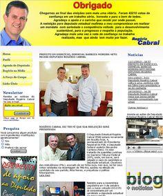 WS AGENCIA DIGITAL - Site do Deputado Rogério Cabral - Marketing Politico Digital