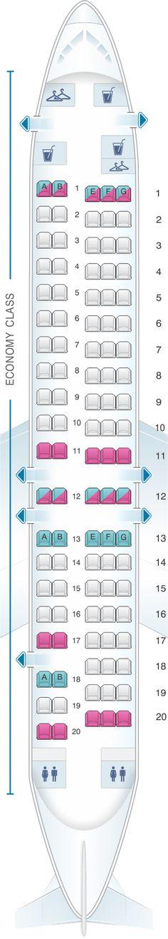 Seat Map Virgin Australia Fokker 100