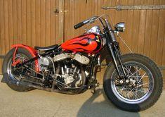 Image of 1942 Harley WLA Flathead Bobber Oldschool Motorcycle by Axel.
