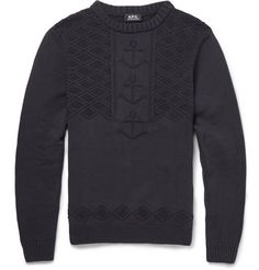 A.P.C. Anchor-Knitted Cotton Sweater | MR PORTER