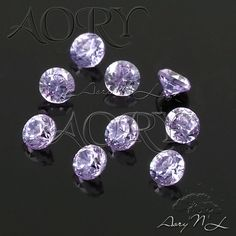 10pcs AAAAA 2mm Lavender Cubic Zirconia Diamond Cut by AoryNL