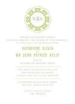 Modern Celtic Knot Wedding Invitations by Karen Gl... | Minted