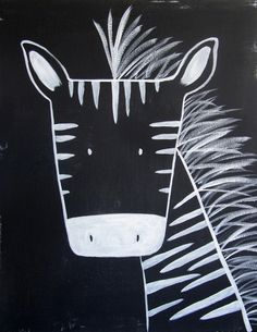 No. 0013 - Modern Kids and Nursery Art - The Zebra - could possibly become a guided drawing lesson if simplified