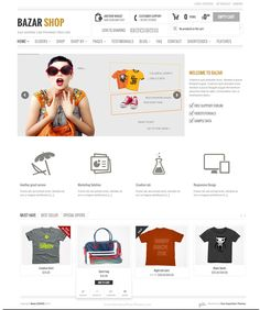 Bazar is a fresh and creative theme that utilises the powerful Woo Commerce plugin to create a very versatile WordPress powered shop, with unlimited layout options and a lot of unbelievable features. #eCommerce #webstore #templates