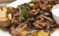 Paradicsomos pulykamell-ragu pirított fokhagymával #forD Chicken Recipes, Pork, Turkey, Beef, Steel, Kale Stir Fry, Meat, Turkey Country, Pork Chops