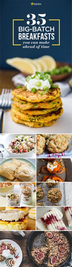 You can never have enough breakfast recipes! Especially make ahead breakfast recipes for a crowd! These 35 big batch recipes are perfect for meal planning and meal preppers. They'll help ensure you eat a healthy breakfast any day of the week - even weekdays! Simple and easy ideas for quick breakfasts on the go!