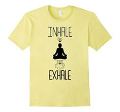 Men's Funny Inhale Exhale Meditation Yoga Graphic T-Shirt…