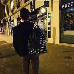 Black Backpack Mens backpack Drawstring backpack by SACKPACK22