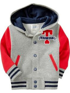 Old Navy Fleece Letterman Jackets for Baby Boys Summer Outfits, Baby Boy Outfits, Kids Outfits, Bomber Jacket Outfit, Old Navy Fleece, New T Shirt Design, Kids Fashion Boy, Kind Mode, Baby Wearing
