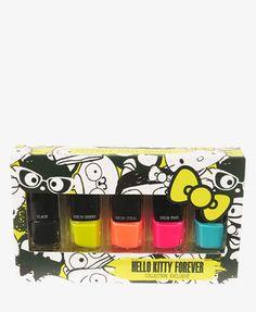 Hello Kitty® Neon Nail Polish Set #HelloKittyForever