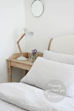 Tips for hosting Airbnb guests in your home | Preparing your home for Airbnb guests | Secret Linen Store bedlinen | Grey striped bedlinen