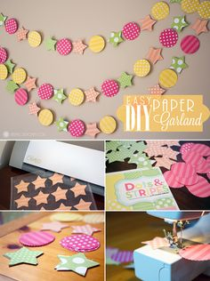How To: DIY Paper Garland « Diy « Marvelous Mommy