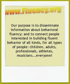 Information About Behavioral Fluency