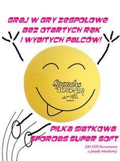 Graj w gry zespołowe bez otartych rąk i wybitych palców! Piłki Spordas Super Soft z mocnej pianki winylowej, wykonane w sposób bezszwowy, o zmniejszonej wadze i średnicy to fantastyczne wprowadzenie do siatkówki dla młodego sportowca - pokocha siatkówkę bardziej niż Angry Birds ;) http://www.sklep.educarium.pl/educarium.php?section=1&kategoria=3599&subkategoria=5849&produkt=12059