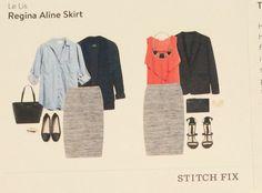 Stitch Fix Review March 2016 || Regina Aline Skirt by Le Lis