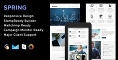 SPRING - Multipurpose Responsive Email Template + Stamp Ready Builder . SPRING is a multipurpose responsive email template designed for Corporate, Office, Business and general