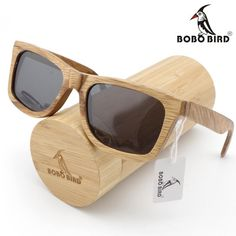 89e1bc31e BOBO BIRD Handmade Brown Wooden Bamboo Polarized Sunglasses. Óculos De Sol  ...