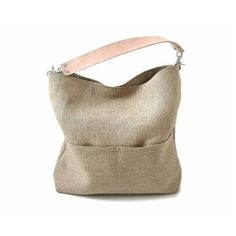 Independent Reign Bucket Tote in Woven Jute and Leather (43.305 HUF) ❤ liked on Polyvore
