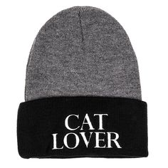 "Let the world know you're loud, proud, and you don't mind standing out in a crowd with our ""Cat Lover"" beanie! Free shipping on orders over $75!"
