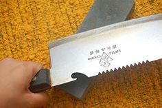 How to sharpen a knife with pictures.  There are more non-functional knife sharpeners on the market than any other product (with the possible exception of no-effort exercise machines).