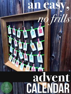 An easy, no-frills Advent calendar, on The Art of Simple. This has been a favorite in our family's holidays for several years now.