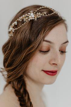 Hochzeit Luxus Haarschmuck Haarband Blume Spitzen Tüll Schwarz Perlen Ivory weiß