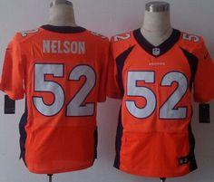 Men's Denver Broncos #52 Corey Nelson 2013 Nike Orange Elite Jersey