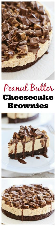 Combine three of the best sweet things into one: peanut butter, cheesecake, and brownies. DECADENT and to-die-for dessert | rasamalaysia.com