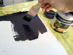 how to make a chalkboard.. this is happening!
