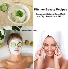 Kitchen Beauty Recipes - Cucumber Face Mask for Oily and Acne-Prone Skin