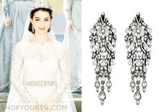 Mary Queen of Scots (Adelaide Kane) wears these chandelier earrings at her wedding in this week's episode of Reign.