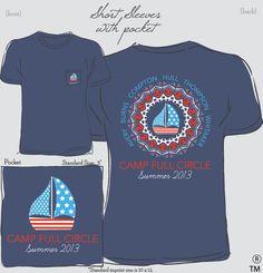 Camp Full Circle Vacation Shirts #design #custom #camp #vacation