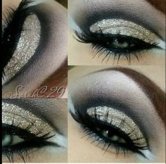 Sarah Chambers used Eye Kandy's limited edition color Winter Wonderland for this gorgeous look.