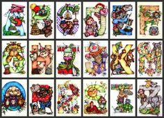 Pop Art Minis: K is for Kute Kangaroos, Kuddly Kittens and Kalico Kites!