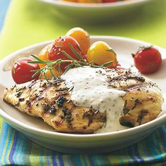 The pronounced lemon-pine character of rosemary goes well with olive oil and Dijon mustard, giving this grilled chicken a rustic...