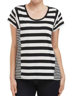 Sussan - Clothing - T-shirts & Tanks - Panel stripe tee