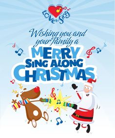 We wish you a Merry Sing Along Christmas! Check out our YouTube channel childrenlovetosing for loads of fun Christmas carols and songs!