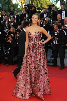 Natasha Poly in Prada at Julieta Premiere at 2016 Cannes Film Festival