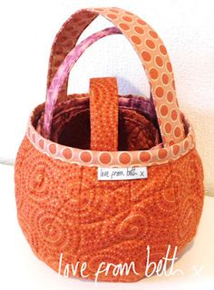 Pumpkin Bags Sewing Pattern for quilting by Beth Studley