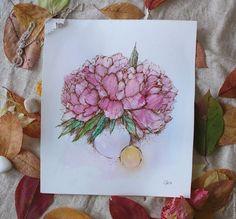 Купить Символы любви ... - комбинированный, пионы, розовые пионы, символ любви, на счастье, цветы, картина